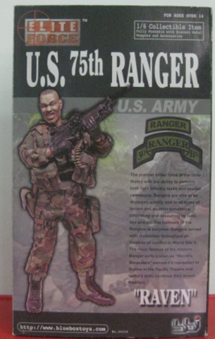 "BBi 12"" 1/6 Collectible Items Elite Force U.S. 75th Ranger Army Raven Action Figure - Lavits Figure  - 1"