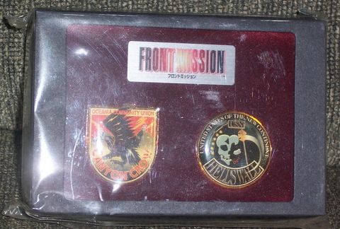 Square Enix Soft Front Mission Not For Sale 2 Pins Collection Figure Set - Lavits Figure  - 1