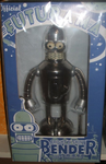 "Official Futurama Bender Bright N Shiny Wind up Tin Robot Action Toy 9"" Collection Figure - Lavits Figure"