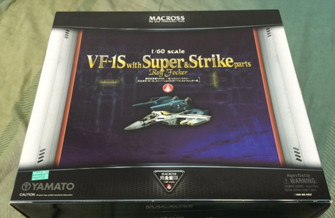 Yamato 1/60 Robotech Macross Do You Remember Love VF-1S with Super & Strike Parts Roy Focker Action Figure Used