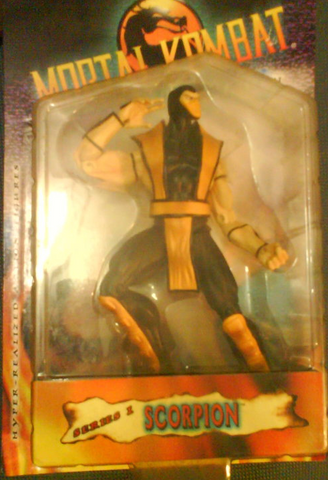 "2000 Mortal Kombat Hyper Realized Action Series 1 Scorpion 8"" Collection Figure - Lavits Figure  - 1"