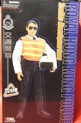 "Dragon 1/6 12"" Royal Hong Kong Police Traffic Emergency Chou Sir Action Figure - Lavits Figure  - 1"