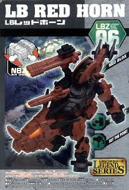 Tomy Zoids 1/72 LBZ-06 NBZ Legend Series LB Red Horn Plastic Model Kit Action Figure
