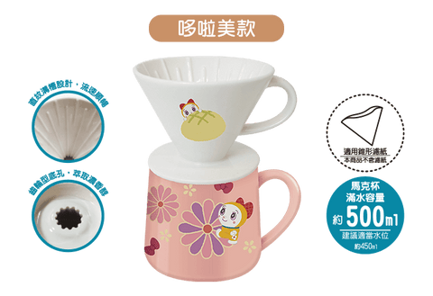 Doraemon Magic Props Taiwan 7-11 Limited Ceramics Coffee Filter & Mug Set Dorami ver