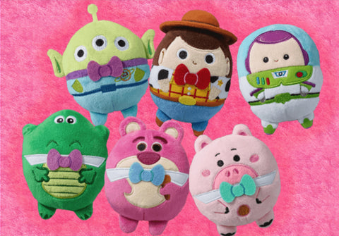 "Pixar Toy Story Family Mart Limited 6"" Mascot Strap Plush Doll 6 Figure Set"
