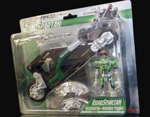 Takara Microman Micronauts Road Force Spartan RS-03 Deltaphantom Thunder Figure