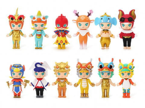 Kenny's Work x Pop Mart Kenny Wong Molly Palace Beast 12 Figure Set