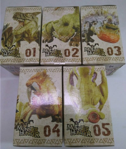 Banpresto Monster Hunter 3G Collection Figure Part 1 5 Trading Figure Set