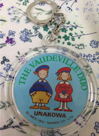 "Sanrio 1991 The Vaudeville Duo Eddy & Emmy 2"" Key Chain Holder"