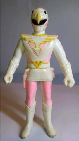 Bandai 1991 Power Rangers Super Sentai Jetman White Swan Fighter Soft Vinyl Action Figure Used