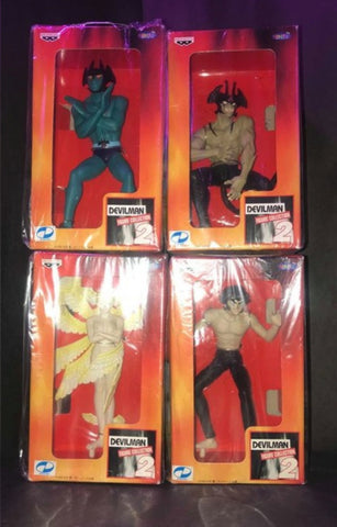 Banpresto Devilman Go Nagai Figure Collection Part 2 4 Trading Figure Set