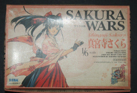 Kaiyodo 1/6 Sega Sakura Wars Taisen Sakura Shinguji Cold Cast Model Kit Figure