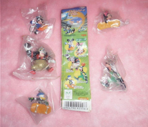 Yujin Disney Sport Football Soccer Gashapon 5 Mascot Strap Figure Set