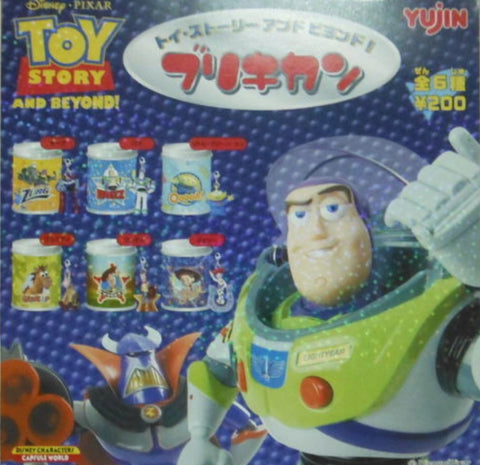 Yujin Disney Pixar Toy Story Gashapon Iron Can 6 Collection Figure Set