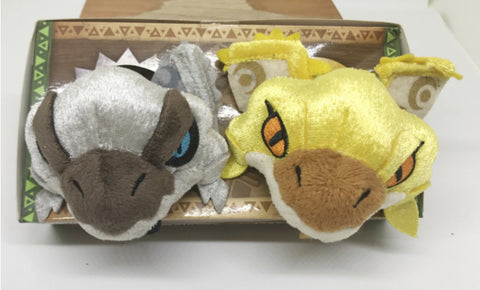 Capcom Monster Hunter Gold & Silver Rathian Mini Plush Doll Mascot Strap Figure Set