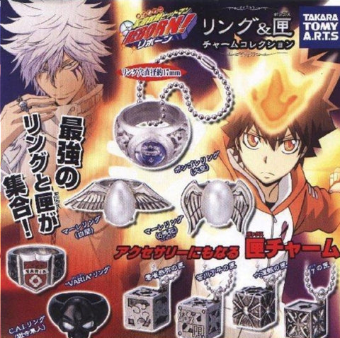Takara Tomy Katekyo Hitman Reborn Gashapon Metal Ring Strap Future Ver 9 Figure Set