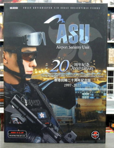 "Soldier Story 1/6 12"" ASu Airport Security Unit Hong Kong SAT's 20th Anniversary Commemorative Edition Action Figure"