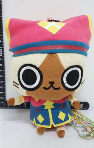 "Banpresto Capcom Monster Hunter Nikki Poka Poka Airu Mura G Airou 6"" Plush Doll Figure"