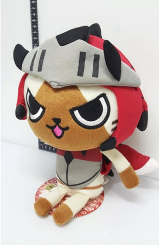 "Banpresto Capcom Monster Hunter Nikki Poka Poka Airu Mura G Ichiban Kuji Prize B Airou 9"" Plush Doll Figure"