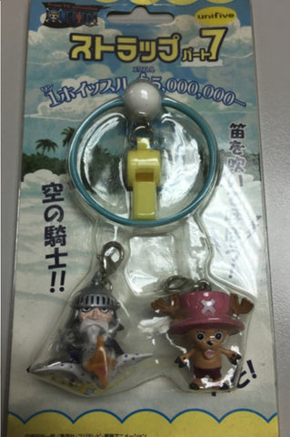 Unifive One Piece Mascot Collection Key Chain Holder Strap Tony Tony Chopper Figure