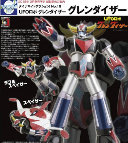 Evolution Toy Dynamite Action No 19 UFO Robot Grendizer Figure