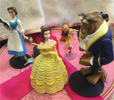 Tomy Disney Magical Collection Beauty and the Beast 4 Trading Figure Set Used
