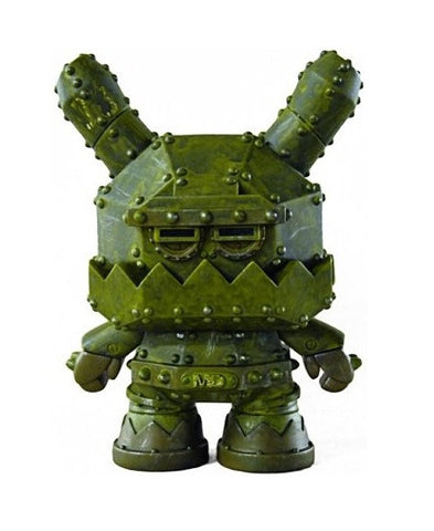 "Kidrobot 2012 Frank Kozik Dunny Mecha Dunny MDA1 Tactical Assault Unit Green Ver 8"" Vinyl Figure - Lavits Figure"
