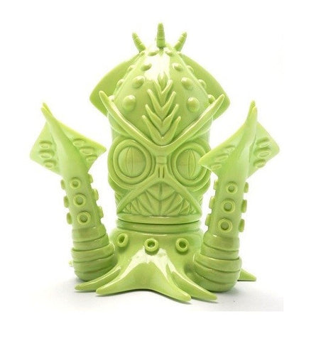 "Wonderwall 2006 Frank Kozik KFGU Kaiju For Grown Ups Ika-Gilas Green Ver 5.5"" Vinyl Figure - Lavits Figure"