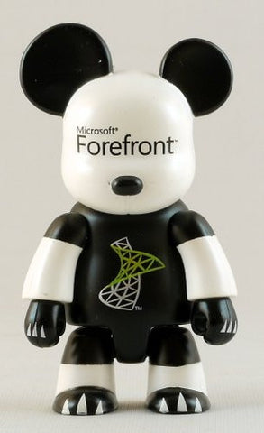 "Toy2R 2008 Qee Key Chain Collection Microsoft Forefront 2.5"" Mini Figure - Lavits Figure  - 1"