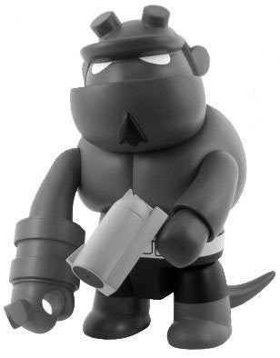 "Toy2R Mike Mignola Hellboy Qee Collection Monochrome Ver. 8"" Vinyl Figure - Lavits Figure  - 1"