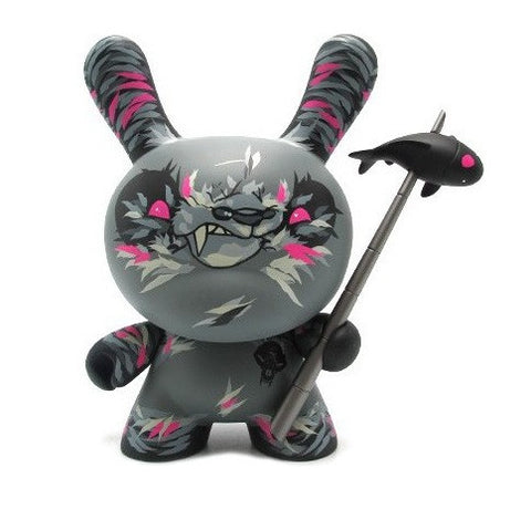 "Kidrobot 2012 Angry Woebots Dunny Shadow Friend Angry Woebots Grey Ver 8"" Vinyl Figure - Lavits Figure"