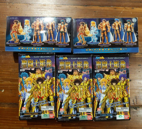 Bandai Saint Seiya Real Collection Statue Agaruma Agalma P2 5 Trading Figure Set Used