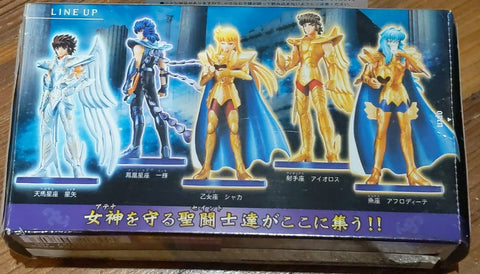 Bandai Saint Seiya Real Collection Statue Agaruma Agalma P4 5 Trading Figure Set