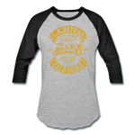 Load image into Gallery viewer, Hot Rod Baseball Tee - heather gray/black