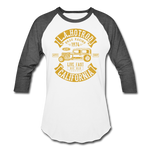 Load image into Gallery viewer, Hot Rod Baseball Tee - white/charcoal