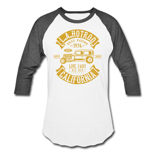 Hot Rod Baseball Tee - white/charcoal