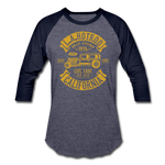 Load image into Gallery viewer, Hot Rod Baseball Tee - heather blue/navy