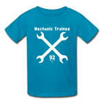 Load image into Gallery viewer, Mechanic Trainee Kids Tee - turquoise