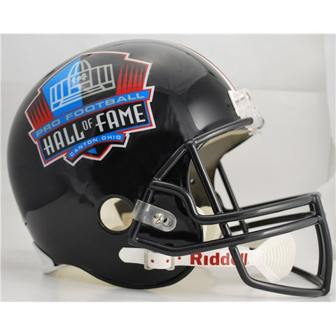 PRO FOOTBALL HALL OF FAME REPLICA HELMET - BLACK (Helmet, Signed, or Personalized)