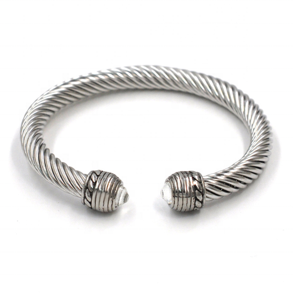 Twisted Cable Cuff Bracelet