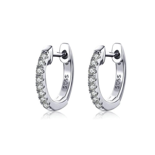 Mini Silver Zirconia Hoops