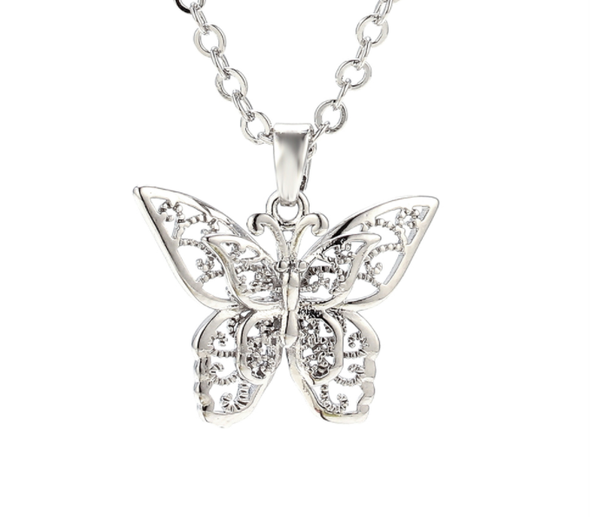 Double Butterfly Necklace