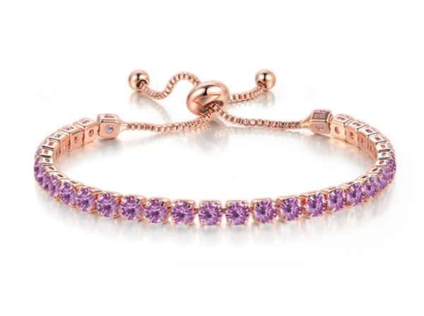 The Lilac Tennis Bracelet - Zyphyr Jewelry BRACELETS