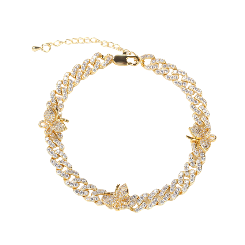 Cuban Link Butterfly Anklet