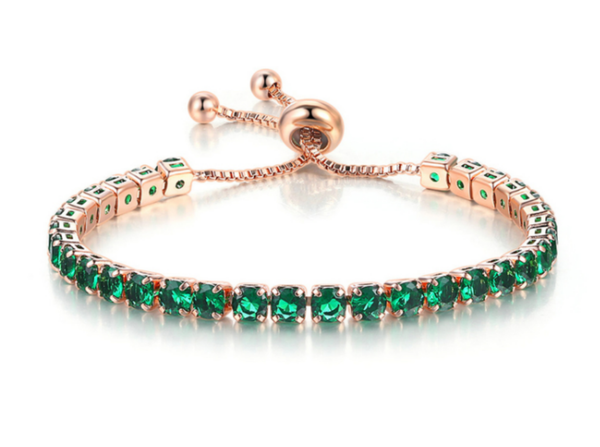 The Emerald Tennis Bracelet - Zyphyr Jewelry BRACELETS