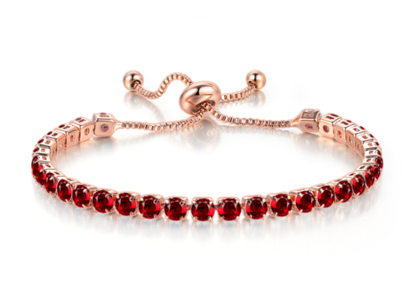 The Ruby Tennis Bracelet - Zyphyr Jewelry BRACELETS