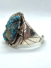 Load image into Gallery viewer, Sterling silver and Turquoise Native American Made Statement Bracelet