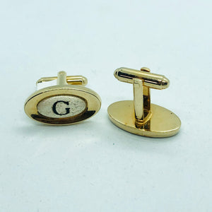 Vintage Monogram G Cuff Links