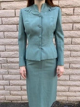 Load image into Gallery viewer, 1940s Seafoam Green Two Piece Skirt Suit