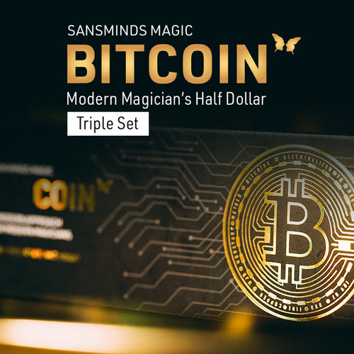 Bitcoin - Modern Magician's Half Dollar - Triple Set - SansMinds Creative Lab - The Online Magic Store